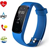 Fitness Tracker, Aneken Activity Tracker Bluetooth 4.0 Braccialetto Fitness Impermeabile IP67 con Cardiofrequenzimetro da Polso Monitoraggio del Sonno Notifiche Chiamate e SMS per iOS e Android