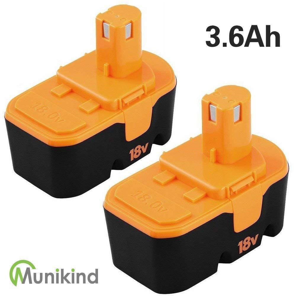 [Upgraded] 3600mAh Replace for Ryobi 18V Battery Ni-Mh One Plus P100 P101 ABP1801 ABP1803 BPP1820 2 Packs