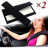 Littleducking LDS1416000110@#UK01 Car Seat Belt Covers Strap Safety Shoulder Pad, Black