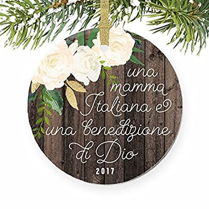 Funny Christmas Ornament Crafts Italian Mother Gift For