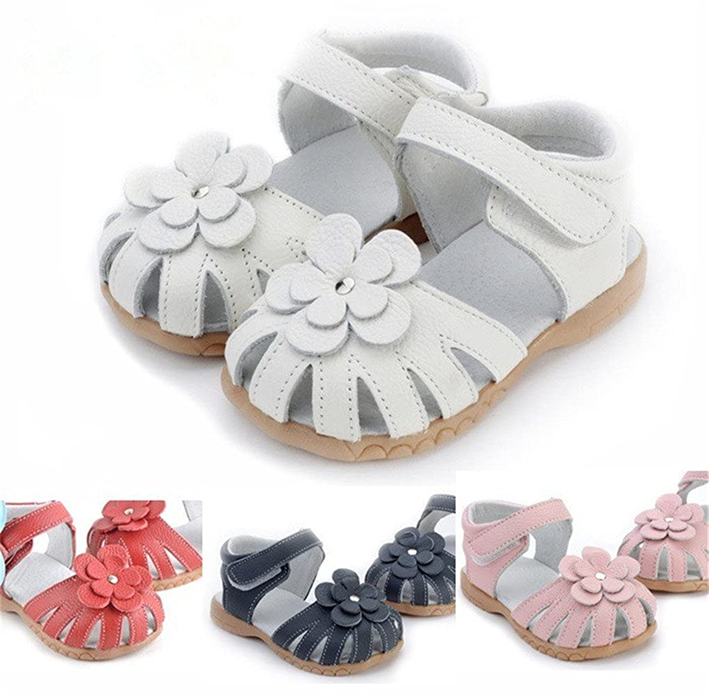 ab1886fd1b Toddler Baby Little Kid Boy Girl Genuine Leather Soft Closed Toe Fishman  Beach Sandals Summer Shoes