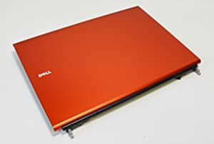0P7F6 Genuine OEM DELL PRecision M6500 Laptop LCD Screen Monitor Display Panel Housing Top Lid Back Rear Cover Hinges Assembly Burnt Orange