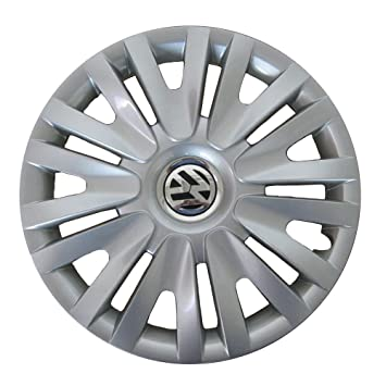 Volkswagen 5 K0071455 Tapacubos 15 Pulgadas en Brillant Plata, número 4: Amazon.es: Coche y moto