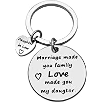 Daughter in Law Keychain Bonus Daughter Gift from Stepmom Mother in Law Wedding Gift for Daughter in Law Stepdaughter…