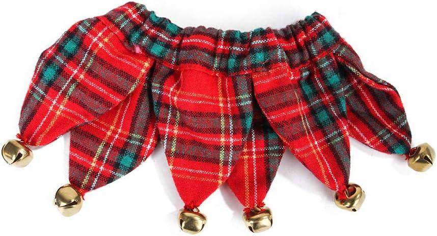 SHJMANSY Collar de Perro Personalizado, Fácilmente Cómodo Pequeño y Cachorro Manual, Mascotas Accesorio Collar Navidad Simplemente