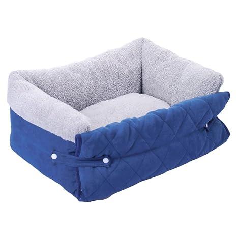 YuNo Cama Plegable para Perro, sofá de Tela de Felpa Ultra Suave para Mascotas,