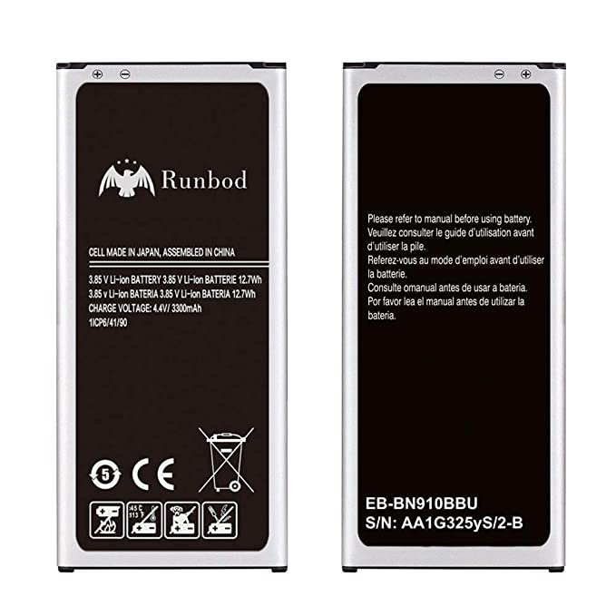 Galaxy Note 4 Battery, Runbod 3300mAh Li-ion Replacement Battery for Samsung Galaxy Note 4 N910, Verizon N910V, AT&T N910A, Sprint N910P, T-Mobile ...
