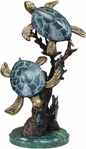 SPI Brass Sea Turtle Duet Statue