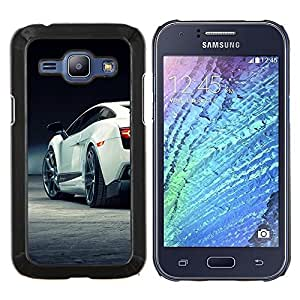 LECELL--Funda protectora / Cubierta / Piel For Samsung Galaxy J1 J100 -- Super Car Sexy Racing --