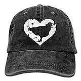 chicken bucket hat - QS3F2S2D1G Men and Women I Love Chickens 1 Vintage Jeans Baseball Cap Black