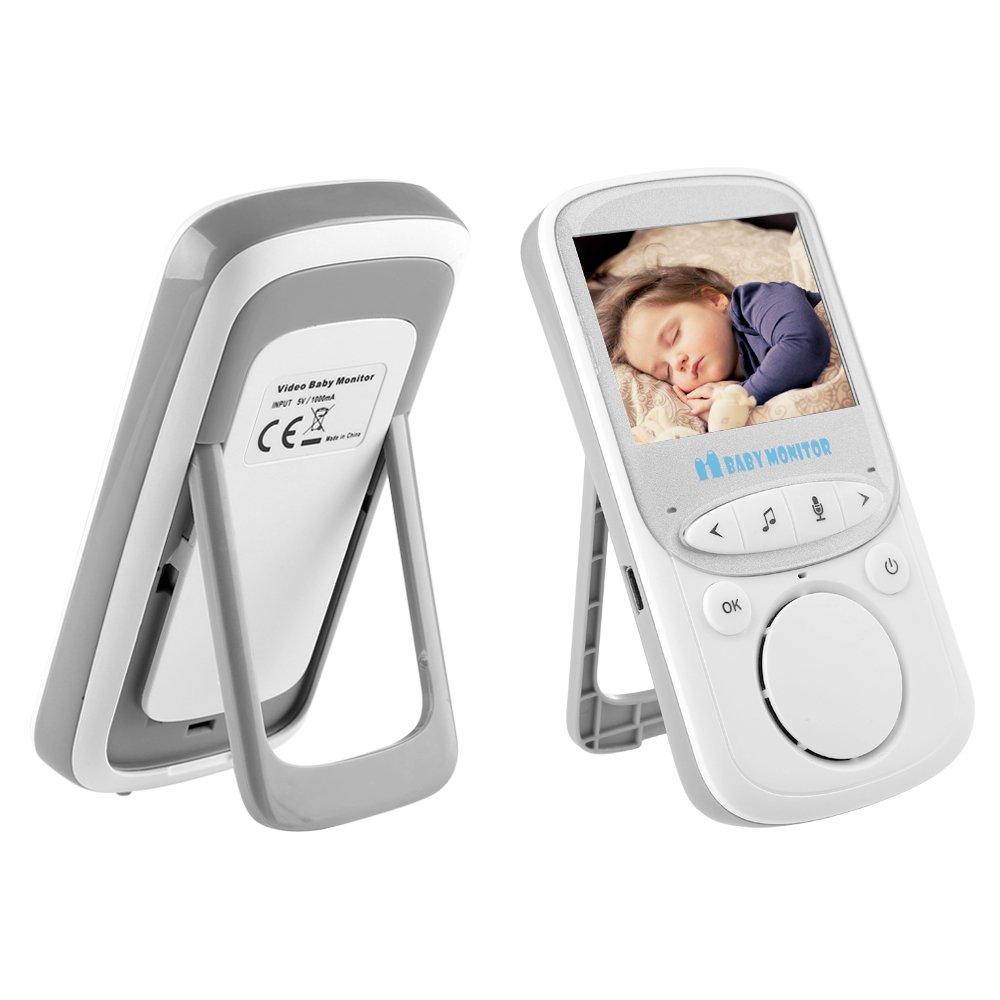 AGM Wireless v/ídeo Baby Monitor LCD de 2.4/pulgadas 2.4/GHz de 2/V/ías de audio Funci/ón con sensor de temperatura 8/NANAS infrarrojos de visi/ón nocturna Sistema con interfono Vigila Bebes baby monitor