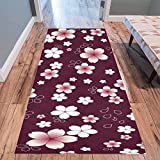 """Cheap InterestPrint Cherry Blossom Sakura Area Rug Floor Mat 10'x 3'3"""", Japanese Pink Floral Flower Throw Indoor Carpet Rugs Collection for Living Room Bedroom Home Decor"""