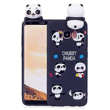 3Dパンダ サムスンSamsung Galaxy S8 ケース かわいいパンダ 薄いです 軽量 シリコーンバックカバーケース
