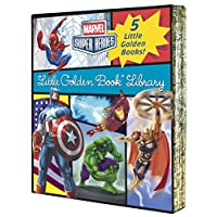 Deals on Marvel Little Golden Book Library The Avengers Hardcover