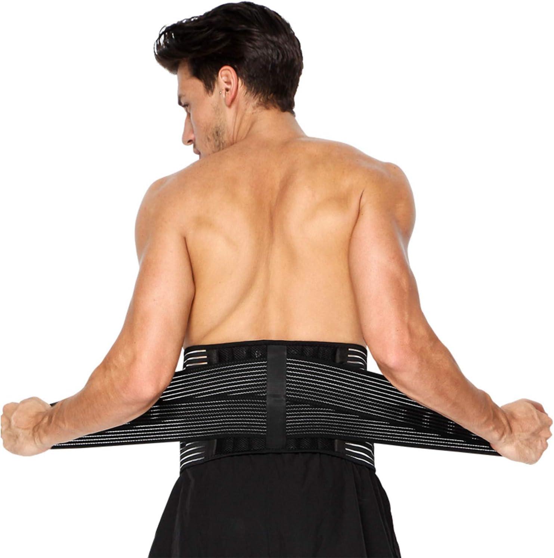 Faja Lumbar para Hombre y Mujer, Lumbar para la Espalda para Aliviar el Dolor de la Parte Baja de la Espalda - Cinturon Lumbar con Resortes de Refuerzo y Correas Dobles de Ajuste (L - 96 a 121cm)