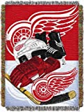 "Officially Licensed NHL Detroit Red Wings Homefield Ice Advantage Woven Tapestry Throw Blanket, 48"" x 60"""