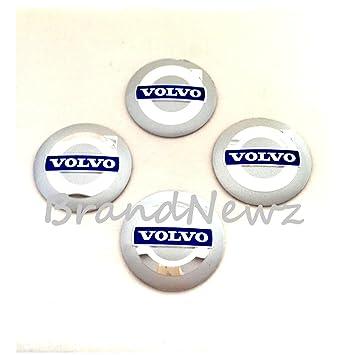 Volvo plateado 3d emblema rueda Centro Tapa Adhesivo Logo Badge - Tapacubos (56,5 mm Dome - Juego de 4: Amazon.es: Coche y moto