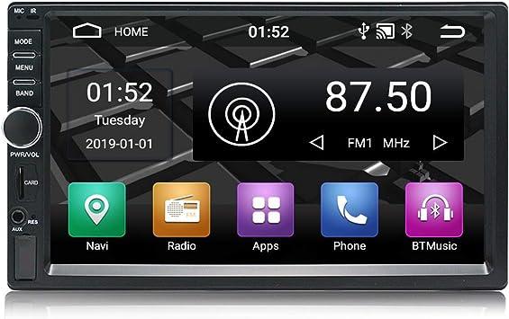 Panlelo S1 Android 9.0 2 DIN Universal 7 Pulgadas Autoradio Pantalla Táctil Navegación GPS Am FM RDS 1080P HD Quad Core 16G Reproductor de Audio del ...