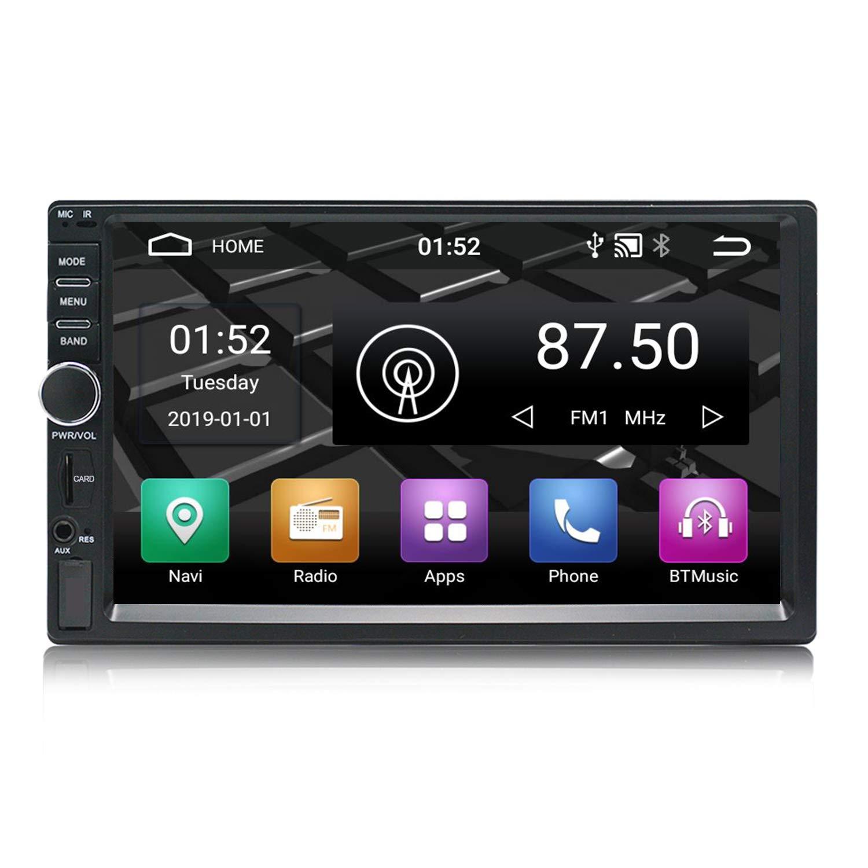 Panlelo S2 Mate Android 7.1 Auto Radio Am FM Coche Est/éreo Navegaci/ón GPS Pantalla t/áctil de 7 Pulgadas 1GB RAM 16GB ROM BT Wi-Fi Llamada Manos Libres Control del Volante Control del Espejo