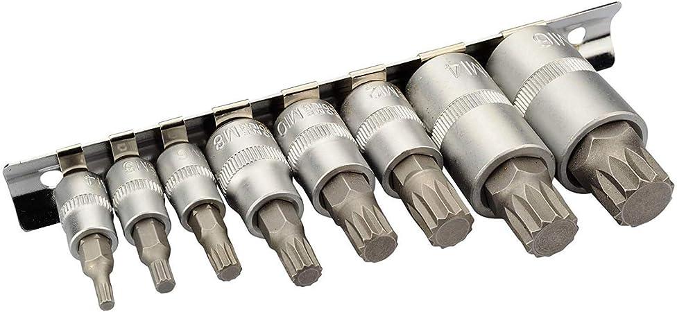 Nuss Satz 6 Tlg Vielzahn Innen Bit Stecknüsse Schlüssel Werkzeug Set M14-16-18