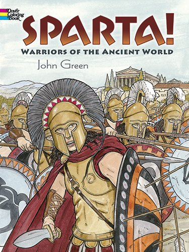Sparta Warriors Ancient History Coloring