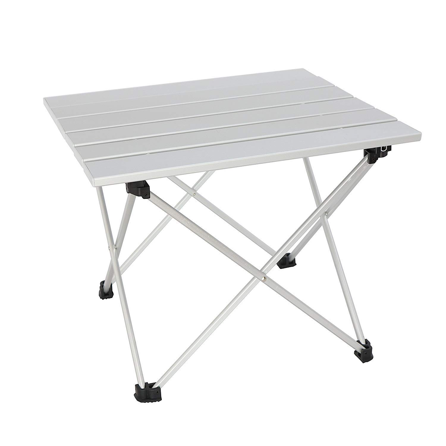 Sutekus Portable Outdoor Picnic Folding Table Table with Special Storage Bag Aluminum Alloy Camping Equipment (Silver) by Sutekus