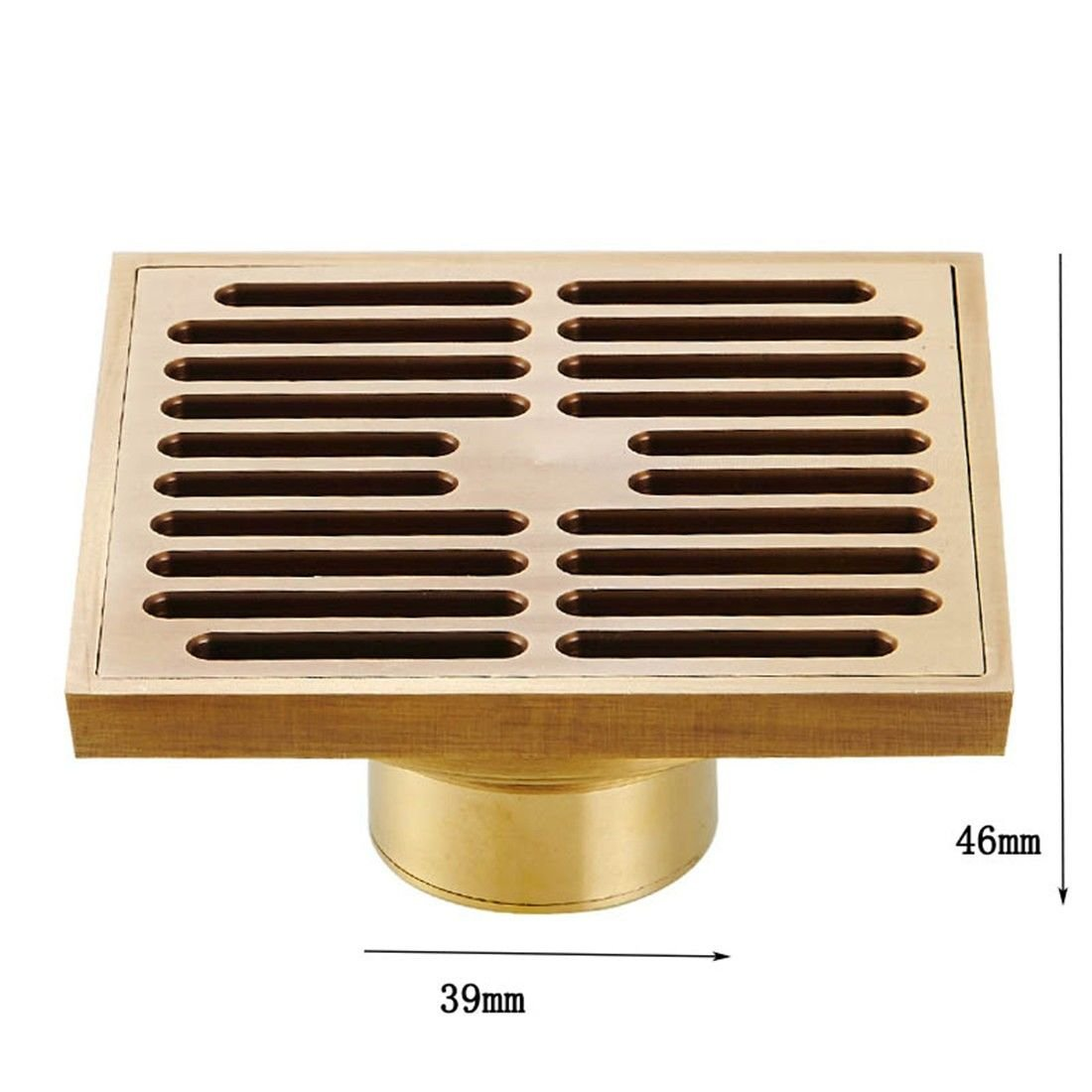 Copper odor-proof floor drain bathroom Washing machine tee-European antique underground water track pest control drainage, T Type