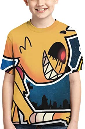 Mikecra-CK Lindo Estilo Fresco Camiseta de Manga Corta Mikecra-CK Camisetas de Manga Corta niños Adolescentes niñas niños Camiseta Camisetas
