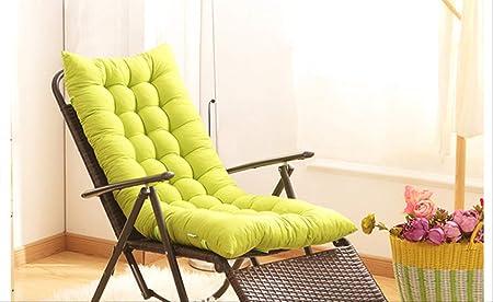 AINIYUE Cojines para tumbonas, Cojines para Muebles de jardín, Patio de jardín portátil Acolchado Grueso, Tumbona para Exteriores Cojín Suave El 155x48x8cm Verde: Amazon.es: Hogar