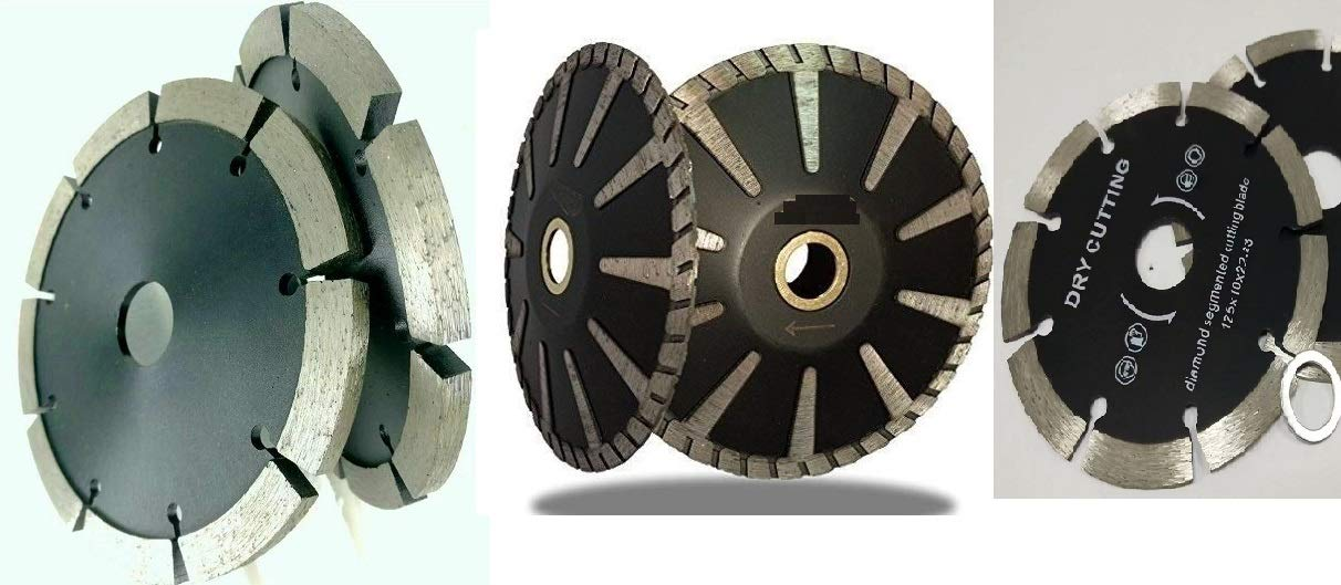 5 (Set of 6 Pieces) Diamond Wall Chaser Crack Chaser Tuck Point Blade Segmented Straight Cutting Blade Convex Curved Blade for Stone Concrete Granite for Tile Floor Grinder Wet Polisher Circular Saw Asia Pacific Construction kyleB5andB20netvvv24hardin