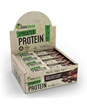 Iron Vegan Sprouted Protein Bars | Double Chocolate Brownie Flavour | 12 Pack