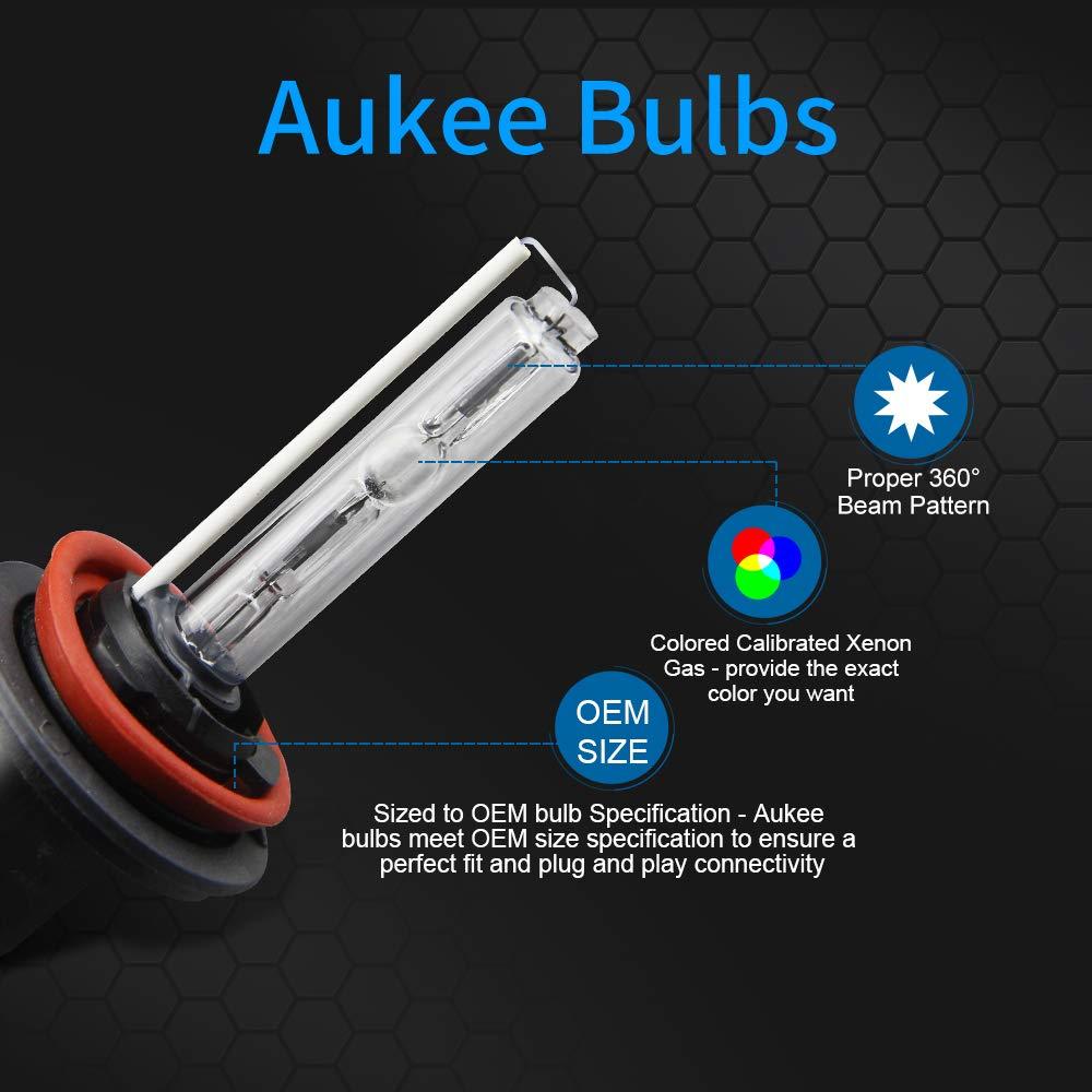 Aukee 55w Hid Xenon Conversion Kit Car Headlight With Ford Fusion Wiring Diagram Super Canbus Ballast No Error H8 H9 H11 6000k Cold White Automotive