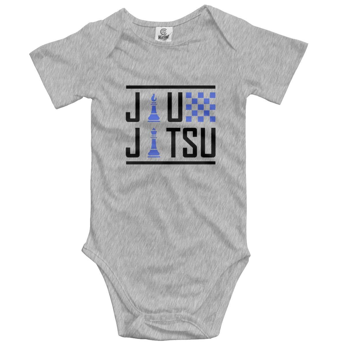HUCON Jiu-Jitsu Chess Baby Boys Girls Jumpsuit Onesies Funny T Shirt