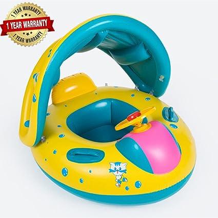 Amazon.com: Bebé Kids inflable barco flotador asiento con ...