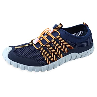 Men Round Toe Mesh Skid Resistance Color Block Breathable lace-up Sneakers