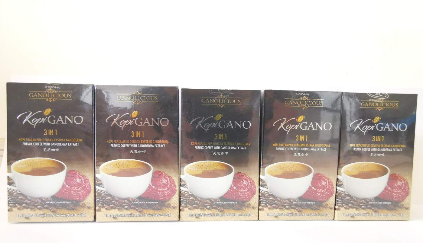 5x Gano Excel Cafe 3 in 1 Coffee Ganoderma Healthy Coffee Expedited Shipping by Gano Excel