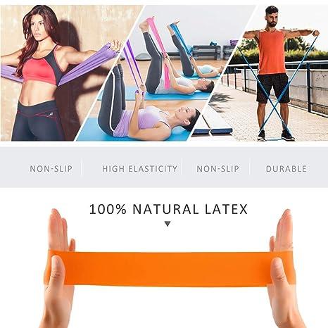 Sanzhileg Non-Slip Strechable Rubber Elastic Yoga Belt Band ...
