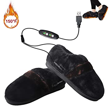 b623a06f0cd9 Amazon.com  Heated Slippers Cold Weather Heated Shoes