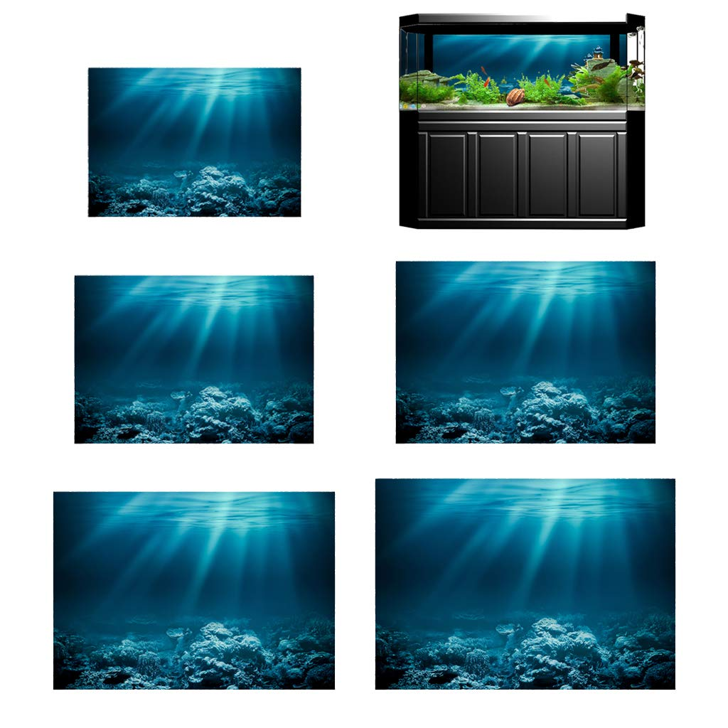 M SM SunniMix 3D Aquarium Fish Tank Background Poster Picture Wallpaper PVC Adhesive Decor