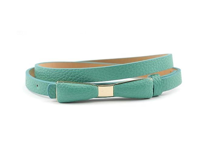 Vintage Retro Belts  Skinny Belt with Gold Tone Mini Bow Accent $8.99 AT vintagedancer.com