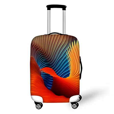 dc5a8b60b18c HUGS IDEA Stylish Washable Travel Luggage Cover Spandex Elastic Suitcase  Protective Covers for 18/20/22 Inch