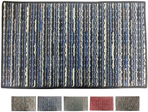 Chenille Striped Entrance Rug