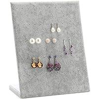 Velvet orecchini a forma di L espositore Organizzatore Gioielli supporto del basamento del vassoio per 30 coppie dell'orecchino del supporto (grigio)