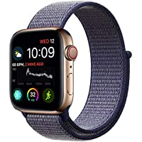 Haotop Replacement Bands Compatible with Apple Watch, Woven Nylon Sport Loop Band Wristband Replacement Bracelet for iWatch Straps Series 4/3/2/1 (38MM/40MM, Midnight Blue)