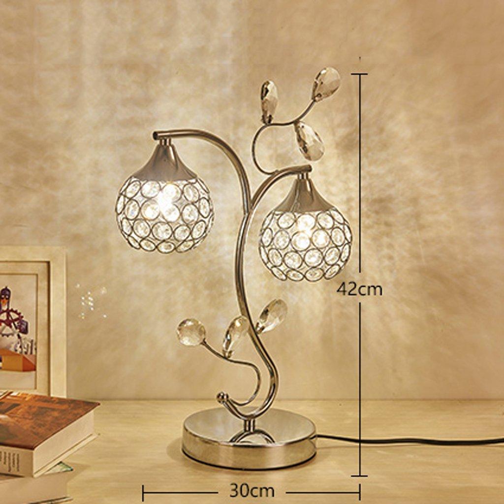 Führte Kristalltischlampe kreative Dekoration Schlafzimmer Nachttischlampe moderne minimalistische minimalistische minimalistische koreanische Hochzeit Boudoir Hochzeit Tischlampe cf4e16
