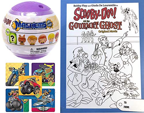 Case Gourmet - Chef Scooby-Doo Mystery Spooky Case Gourmet Ghost Cartoon Movie DVD Bobby Flay & Giada pack Coloring Cover + Soft Figure with Action Stickers Whats Cooking 2 Pack