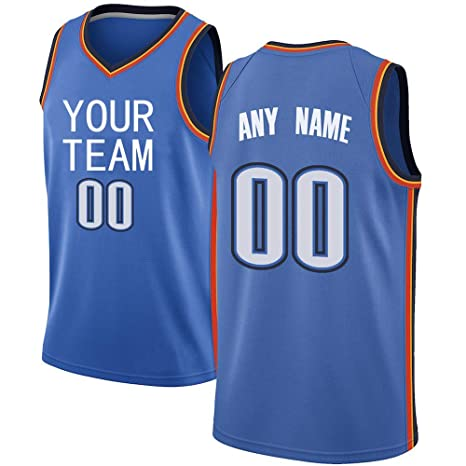 a9a195d1f Image Unavailable. Image not available for. Color  APATHA Custom Men s  Oklahoma City Basketball Jersey for Men with Your Name Team Number Colors