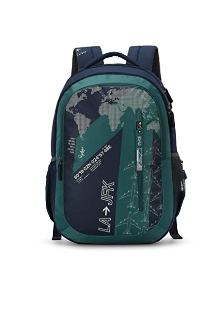 9ab89fe3bf2c Skybags Figo Plus 03 34 Ltrs Green Casual Backpack (FIGO Plus 03)   Amazon.in  Bags