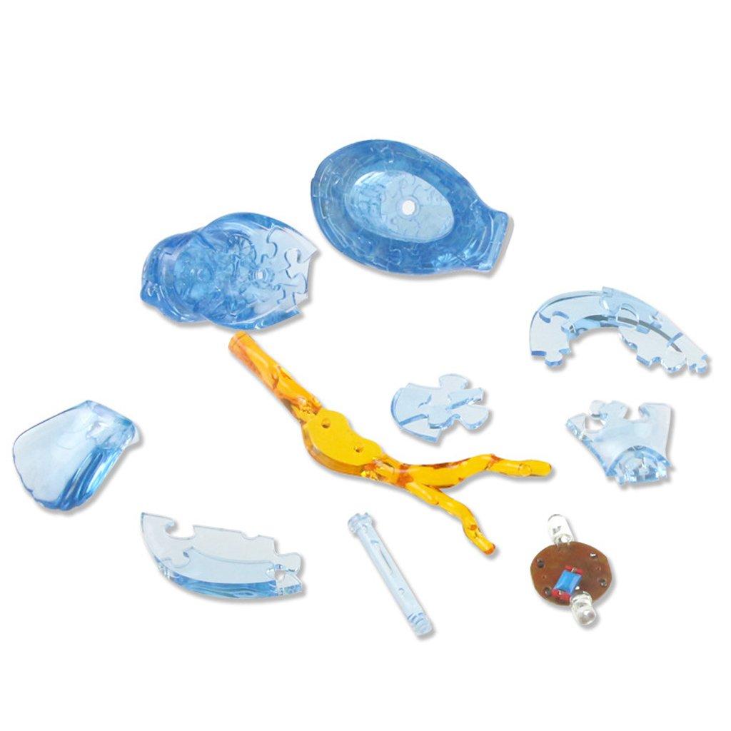 Misright 3D Crystal Blocks Puzzle Building Toy Gift Bird Cute Elephant Model DIY Gadget Pink