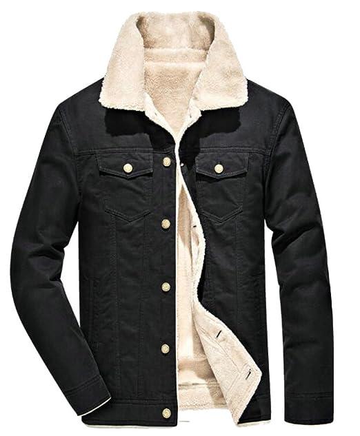 Amazon.com: uuyuk-men clásico Slim Sherpa Lined pana ...